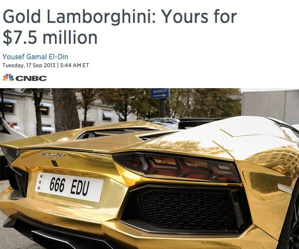 Kanye West Gold Car