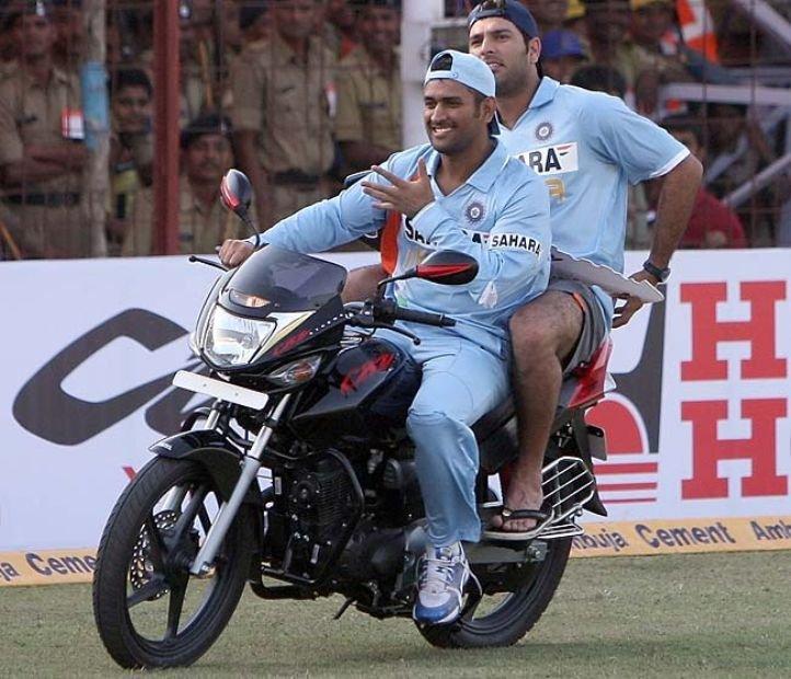 Image result for Mahi Dhoni bike