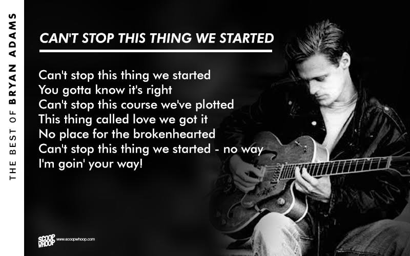 Quotes About Love Relationships: 20 Bryan Adams Lyrics That Are Straight From The Heart