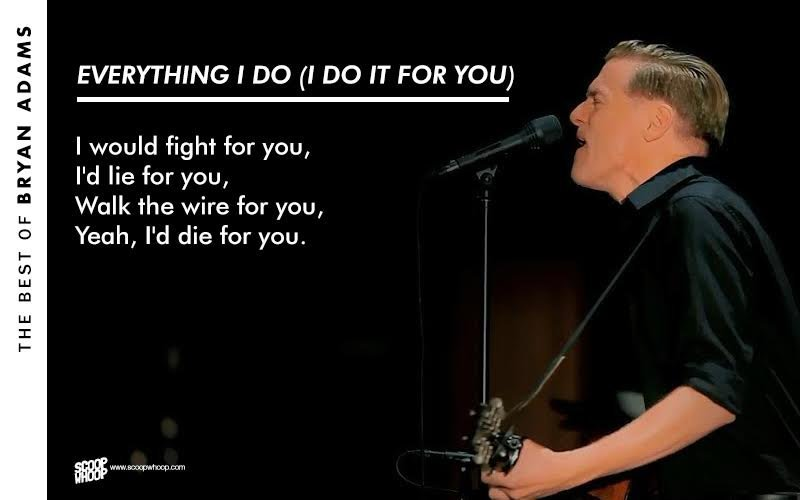 20 Bryan Adams Lyrics That Are Straight From The Heart