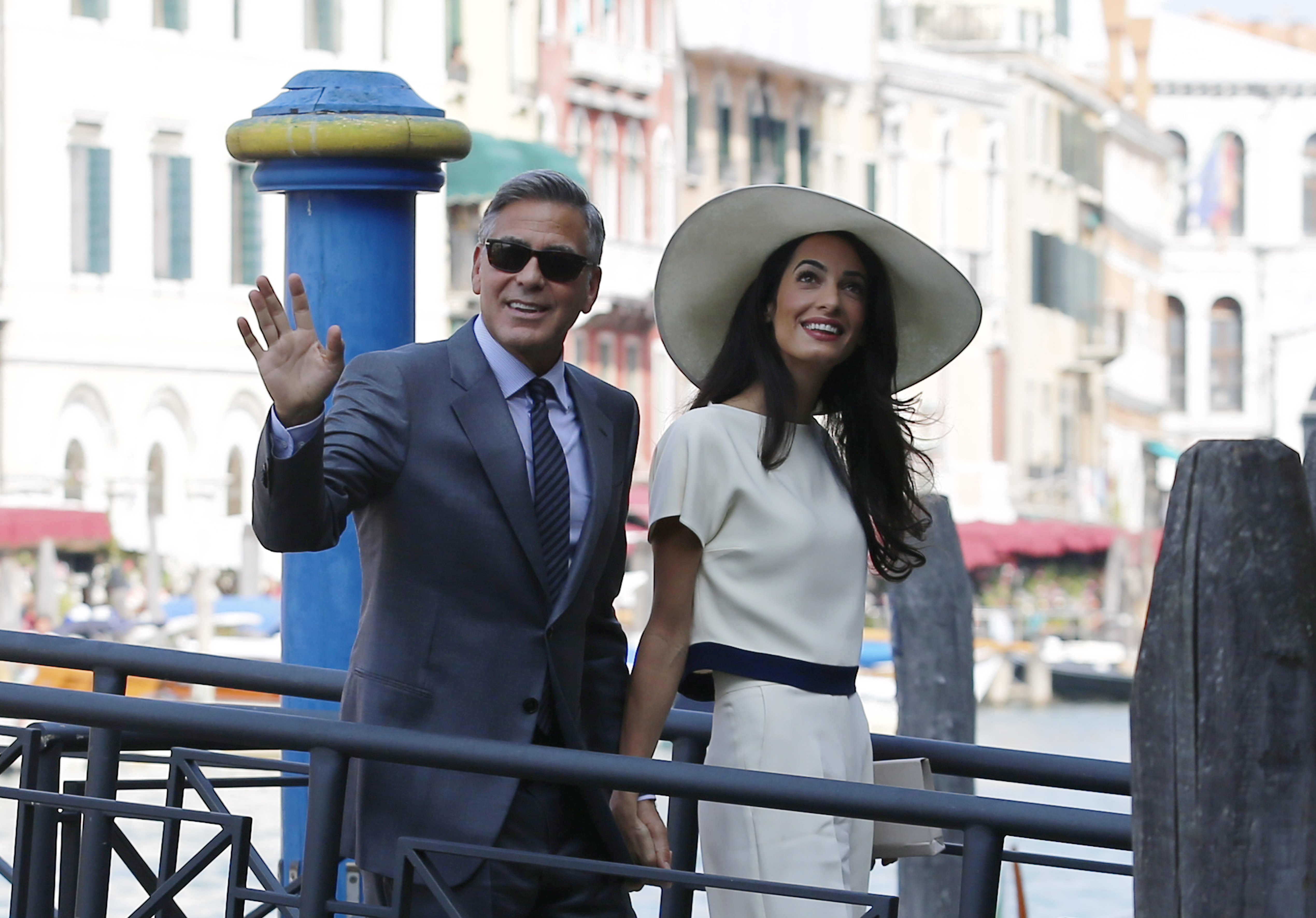 George Clooney And Wife Amal Alamuddin Welcome Twins Ella And Alexander