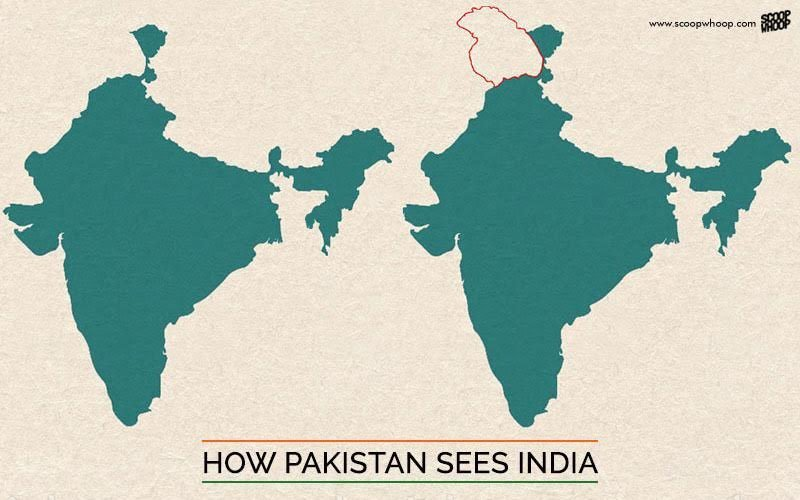 Map Of India And Pakistan Border.This Is What India S Map Looks Like According To Pakistan China Nepal