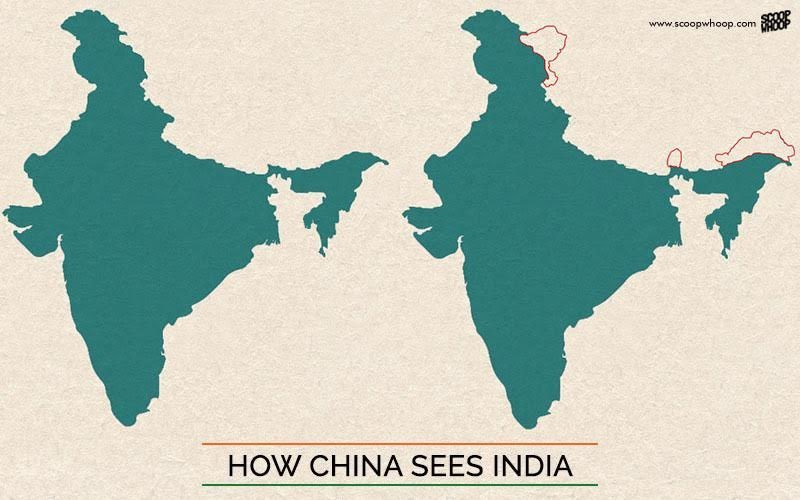 This Is What Indias Map Looks Like According To Pakistan China - World map pakistan