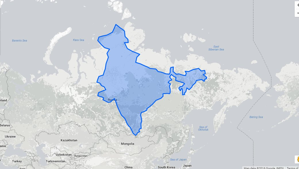 This international website compares true sizes of countries itll and take it a little further north to russia this is what indias size becomes then gumiabroncs Gallery