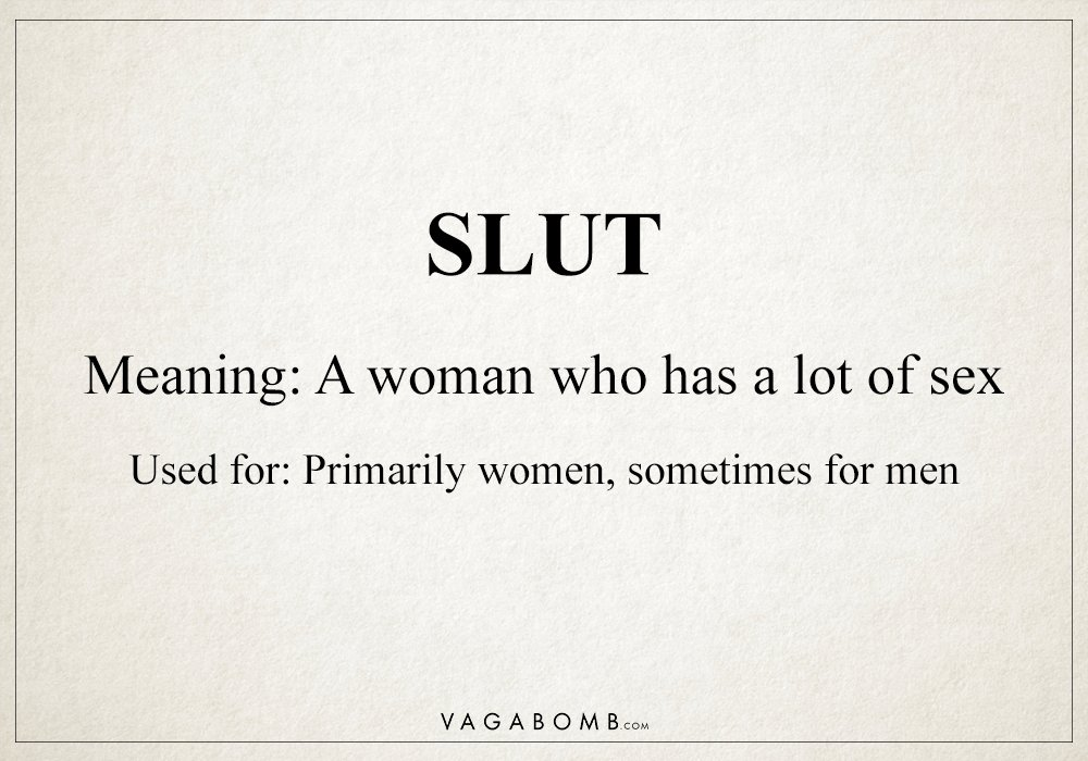 sayings about sluts