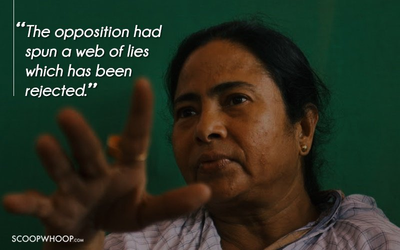 Mamata Banerjee demolishes her opposition after her victory