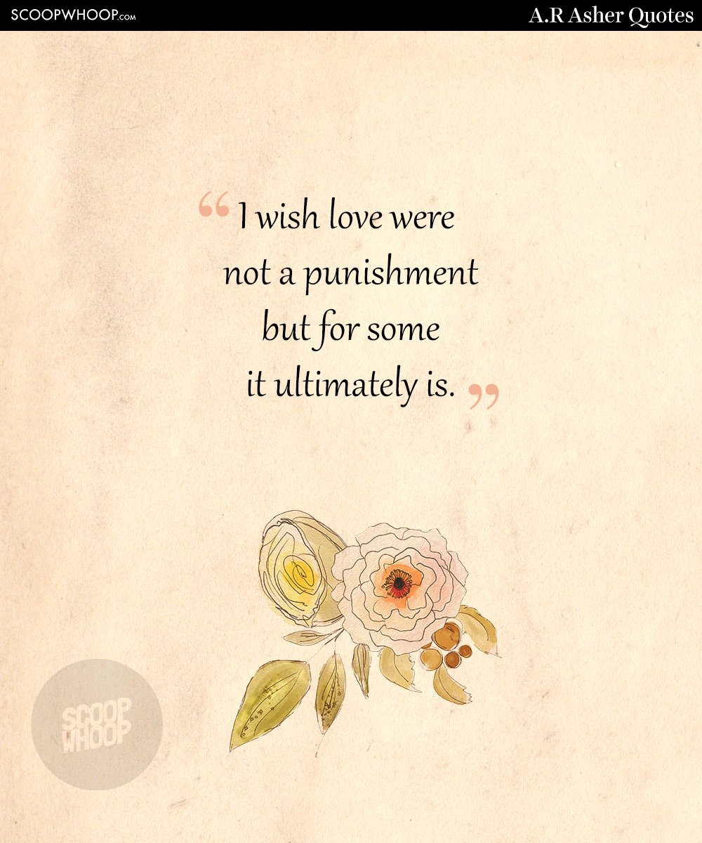 Love Quotes By Famous Poets 15 Quotesar Asher About Love & Longing That'll Make You Think