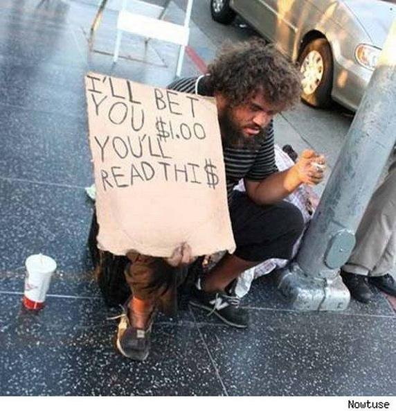 Image result for trump on the street begging with cap in hand pic
