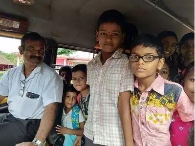 A teacher becomes a driver in Karnataka!