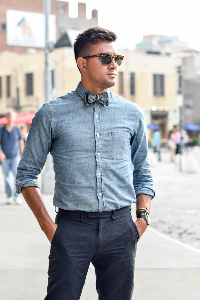 3ab8d71f0347 Tie Mens Fashion Style Bow Smart Casual Denim 1 Kingssleeve. Source Ify.  These Geous Men Sporting Bow Ties Will Make You Want To One