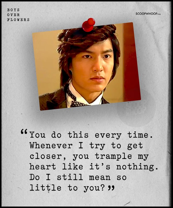 Image of: Garden 12 Quotes From boys Over Flowers To Make You Fall Head Over Heels In Love With Korean Drama Scoopwhoop 12 Quotes From boys Over Flowers To Make You Fall Head Over Heels