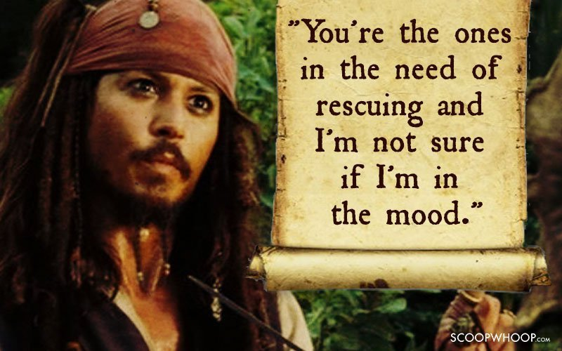 25 Memorable Quotes By Captain Jack Sparrow That Made Us Fall In