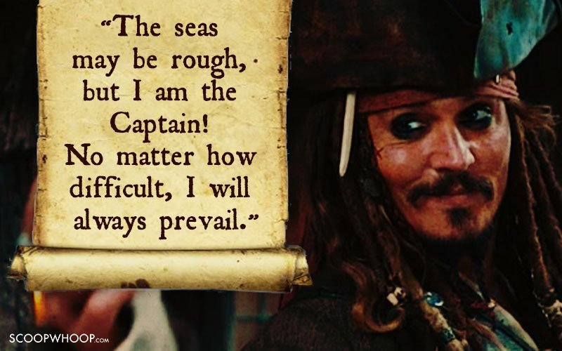 Pirates Of The Caribbean Quotes Amusing 25 Memorable Quotescaptain Jack Sparrow That Made Us Fall In