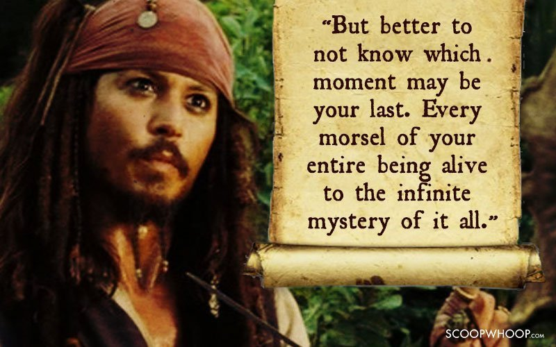 Pirates Of The Caribbean Quotes Amazing 25 Memorable Quotescaptain Jack Sparrow That Made Us Fall In