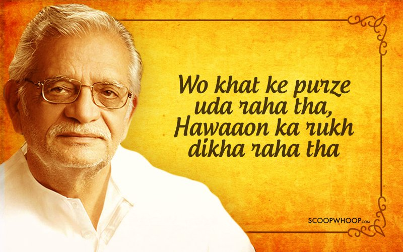 16 soulful lyrics by gulzar to warm the dustiest corners of your heart
