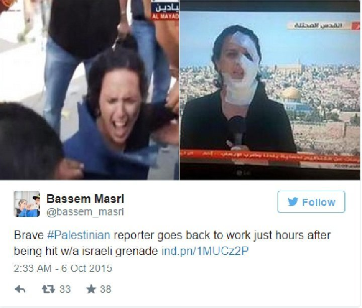 This Reporter Appearing On Live TV After Getting Hit By Stun Grenade