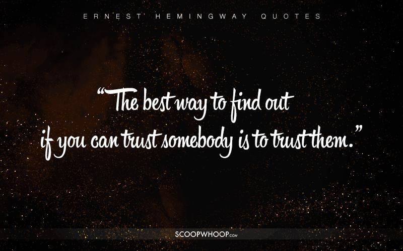 Quote From Old Man And The Sea: 30 Profound Quotes By Ernest Hemingway That Are Your Cheat