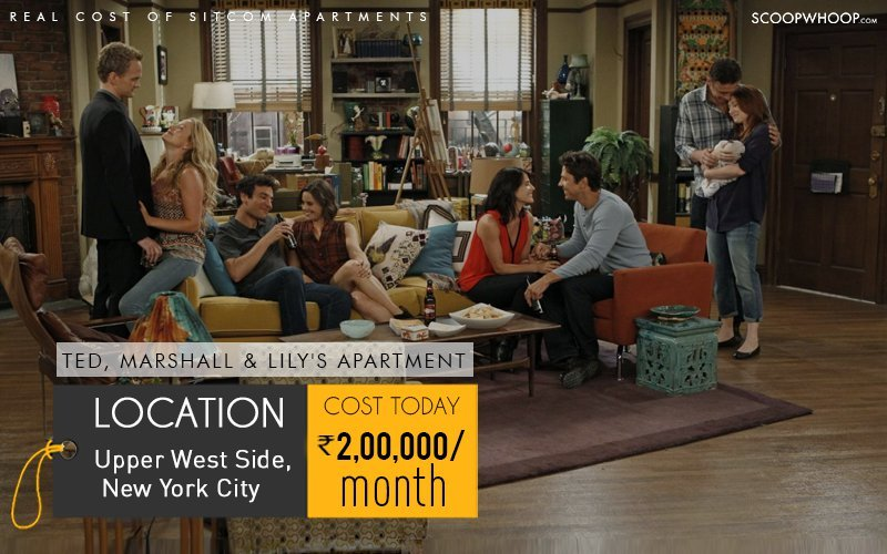The Famed Two Bedroom One Bathroom Apartment That Ted Mosby Shared With Marshall And Lily Is In New York City While Fact There Were Three Of
