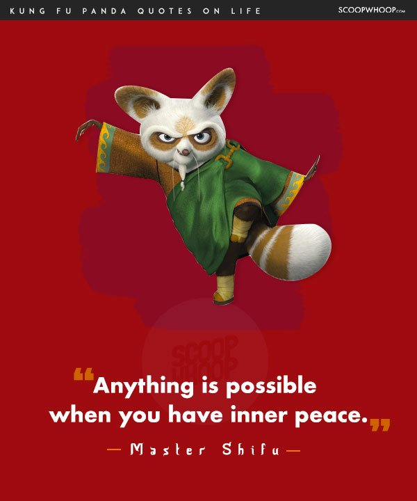 14 Life Lessons You Learn From The Infinite Wisdom Of Kung Fu Panda