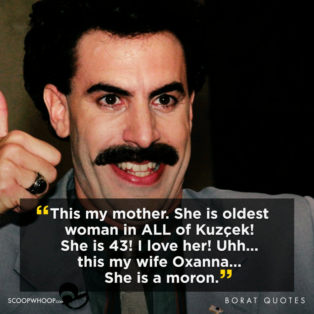 funny borat quotes
