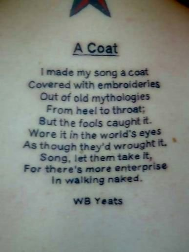 i made my song a coat