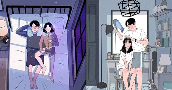 13 Illustrations That Show The Soul Of A Relationship Lies In The Intimate Moments Shared Together
