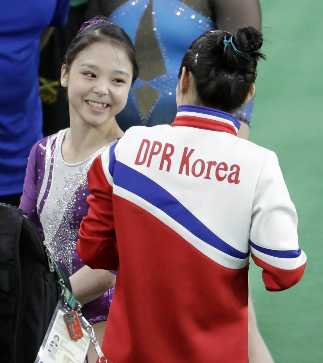 Gymnasts From North South Korea Clicking A Selfie Together Proves
