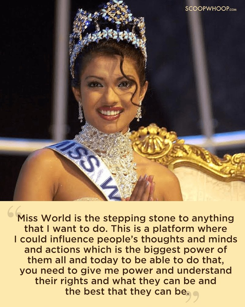 priyanka chopra miss world answer