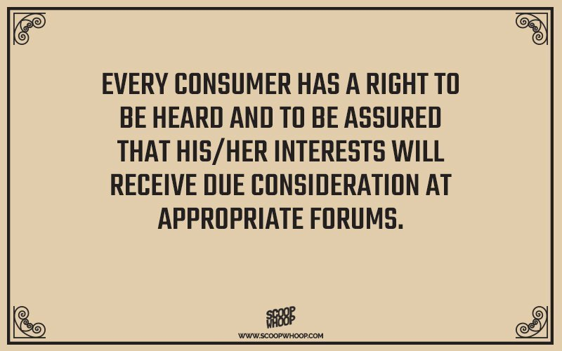 list of consumer rights in india