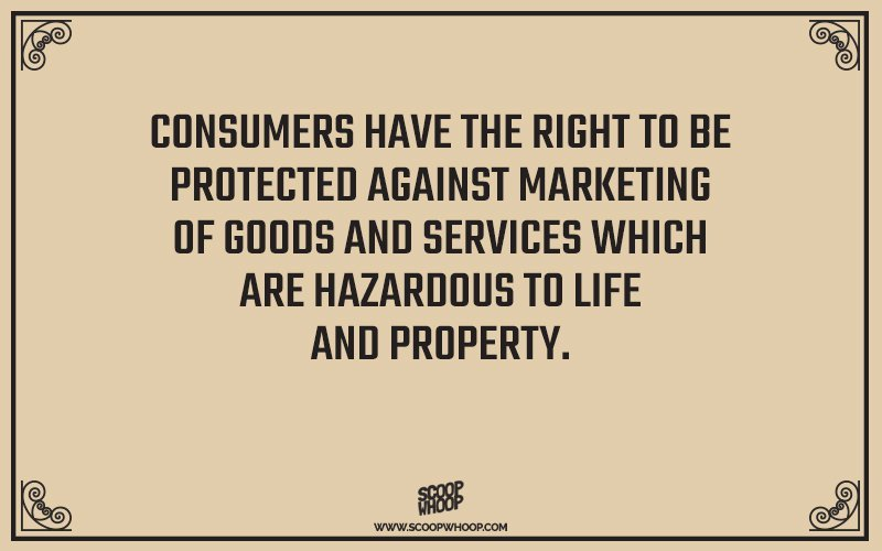 short note on consumer rights