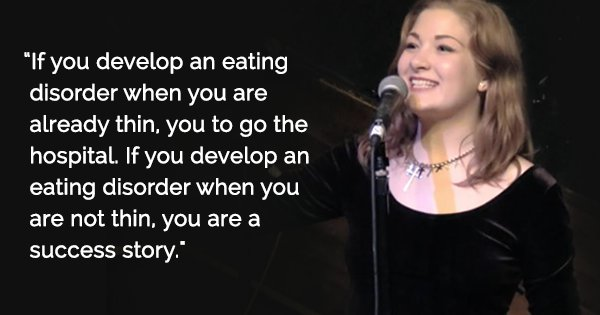 when the fat girl develops an eating disorder