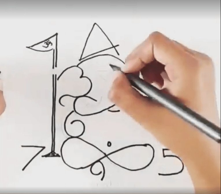 Can You Draw Ganpati Using Numbers 0 9 This Artist Shows You How