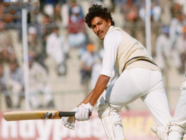 Image result for Ravi Shastri batting
