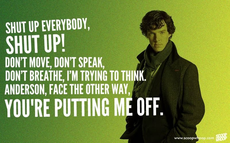 Sherlock Quotes | On Benedict Cumberbatch S Birthday We Look Back At The 20 Best