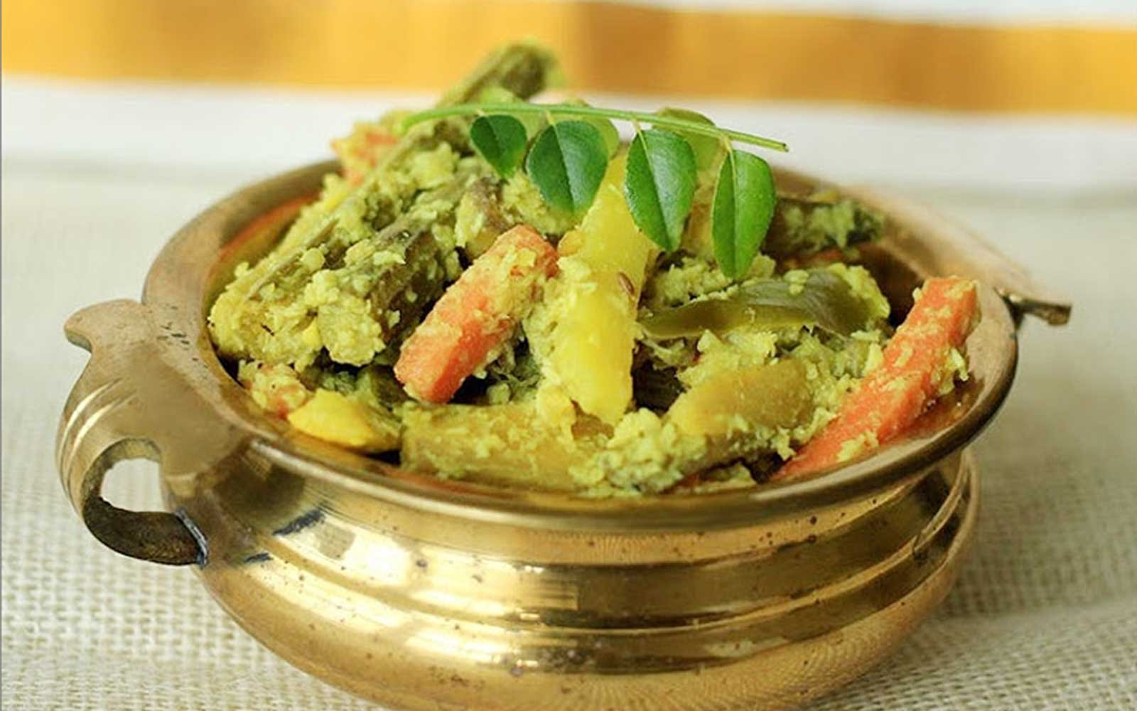 Avial is a popular dish of the Kerala Sadhya.