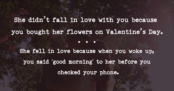 What Makes A Woman Fall In Love