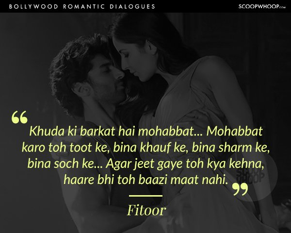 30 Romantic Dialogues From Bollywood Films That Beautifully