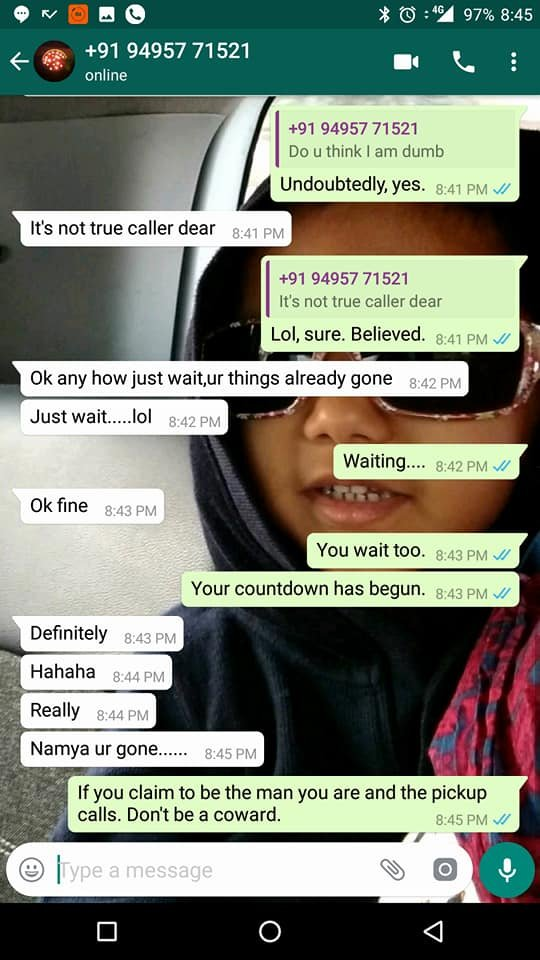 Chennai Woman's Post On How A Man Harassed Her On WhatsApp
