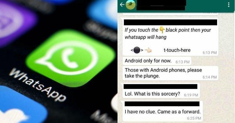 Whatsapp Black Dot Message Crash Phone