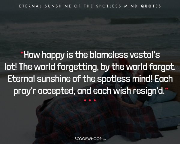 20 \'Eternal Sunshine Of The Spotless Mind\' Quotes That ...