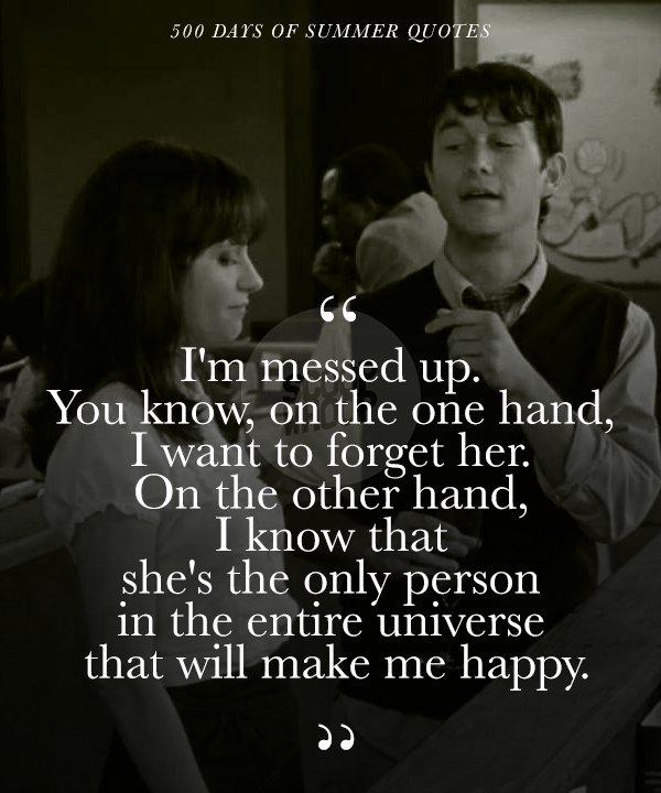 What i want 500 days of summer