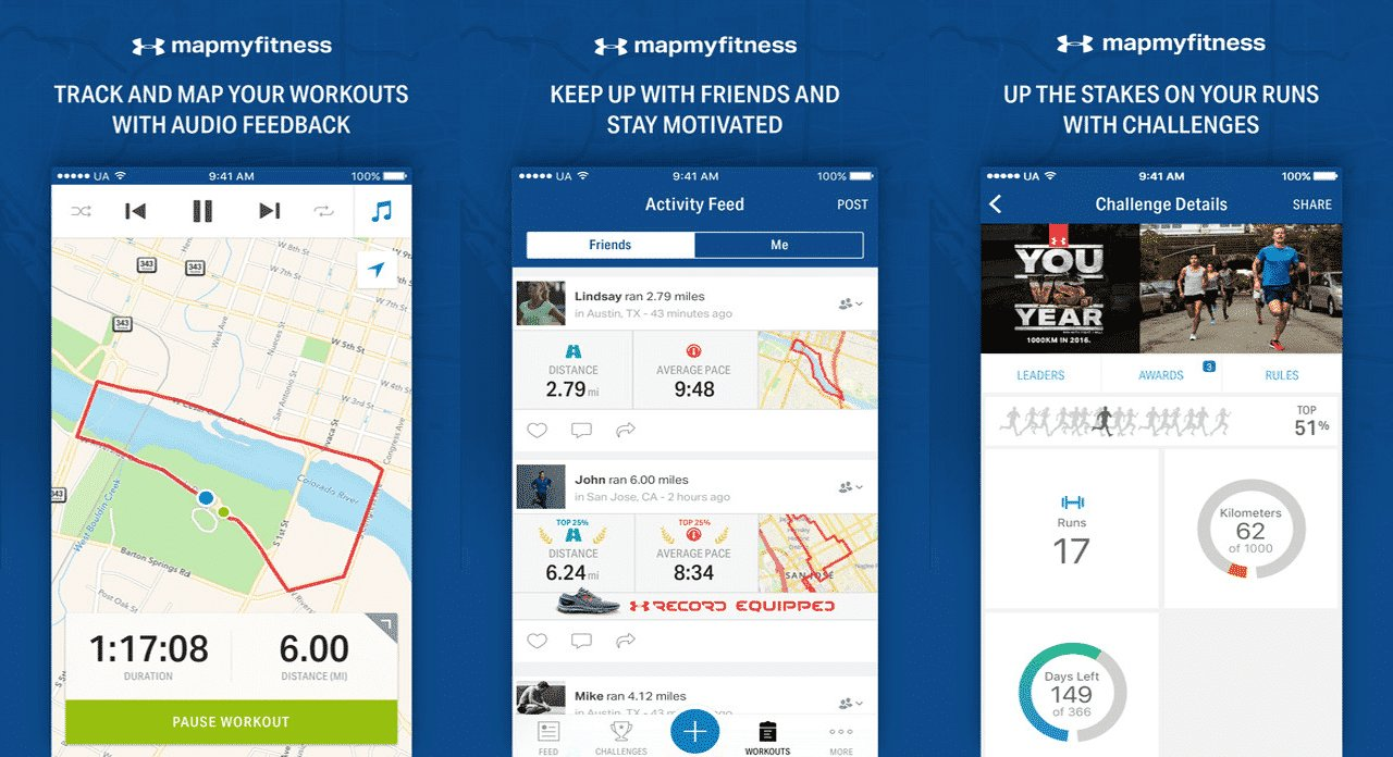 map my fitness (android ios). for those who can't afford personal trainers these  workout apps