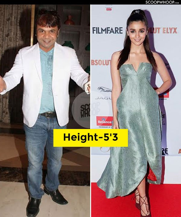 18 Bollywood Actors & Actresses Real Height