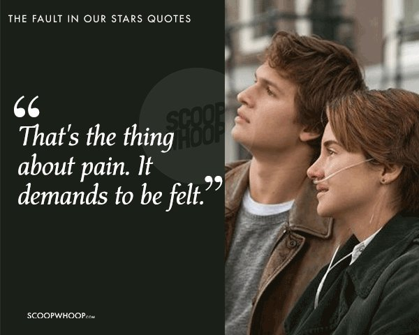 Stars And Love Quotes: 20 Quotes From 'The Fault In Our Stars' About Love, Pain