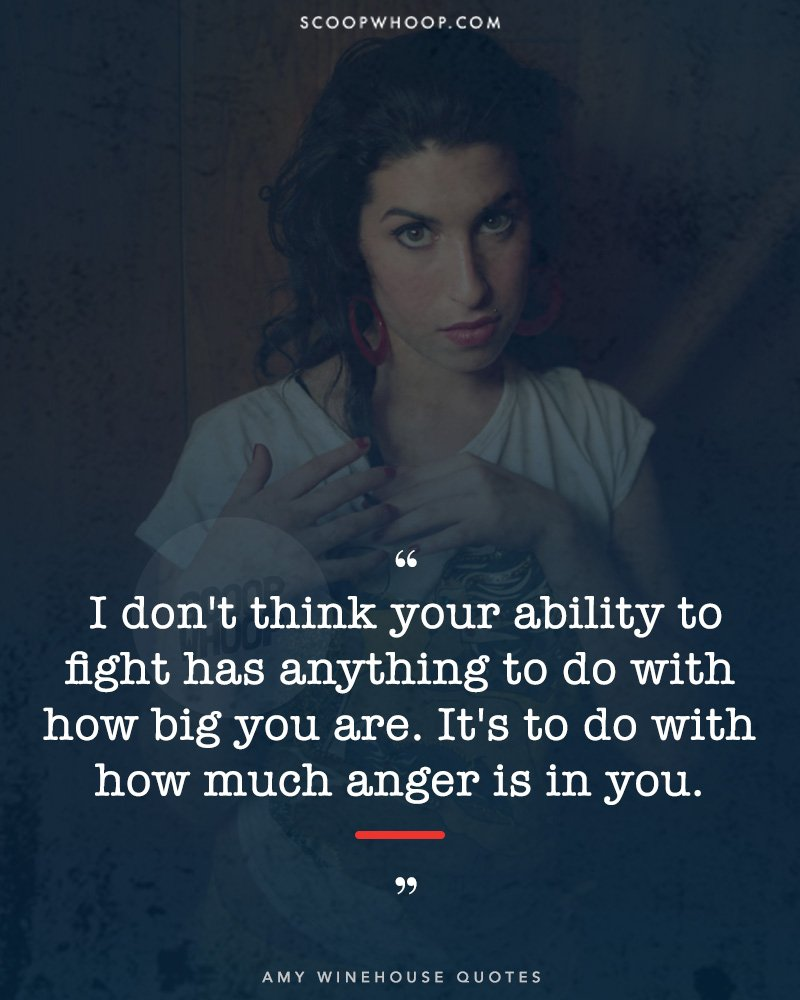 15 Quotes By Amy Winehouse That Prove She Was Wise Beyond Her Years