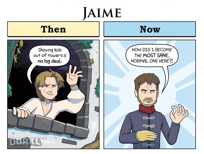 These Comics Perfectly Depict How GoT Characters Have Changed From Season 1 To Now