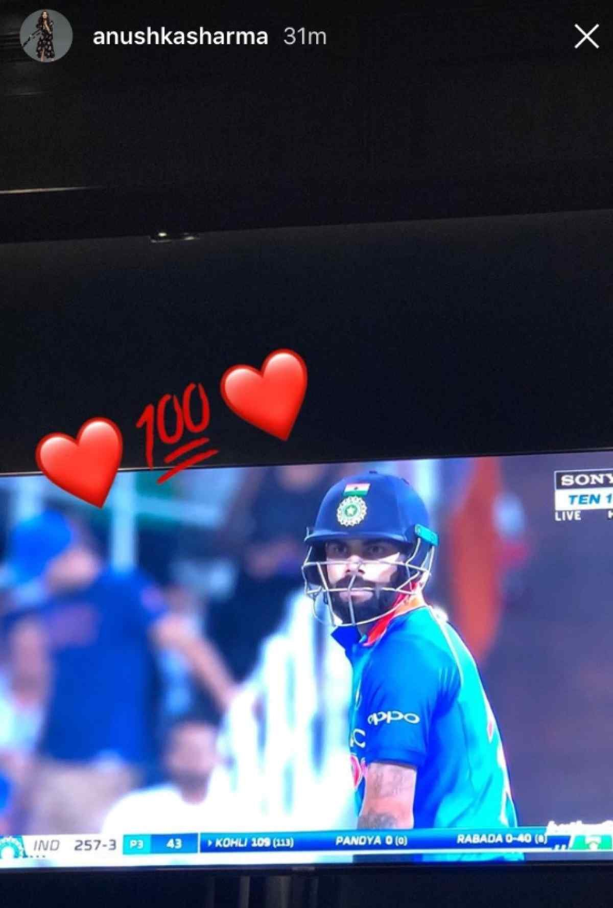As Virat Led India To Victory Yesterday, Anushka Cheered Him On With