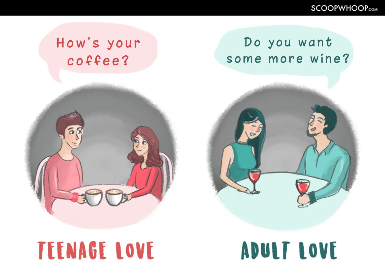 Charming From Cheesy Little Kids To Independent And Complex Adults, We Have Changed  And So Has Our Definition Of Love. Scroll Down And Youu0027ll Know The  Difference!