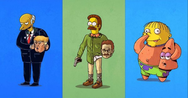 Cartoon Characters Unmasked : Your beloved cartoon characters unmasked in these