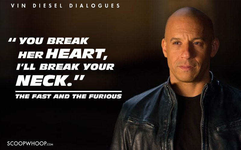 Vin Diesel Inspirational Quotes: 12 Vin Diesel Dialogues That Prove He's Hollywood's